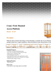 Crane Or Fork Mounted Access Platform Brochure