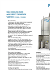 Model VM/DX 12000 - 35000 - Milk Cooling Tank Brochure