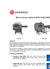 Model MTN-1650 and MTN-2450 - Belt Cutting Machines Brochure