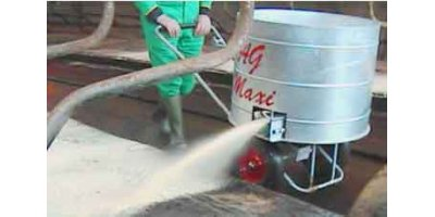 Model AG Maxi - Battery Operated Wheeled Sawdust Dispenser