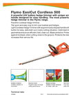 Flymo EasiCut - Model 500 - Powerful Cordless Hedge Trimmer - Brochure