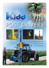 Kidd - High Lift Post Drivers for Professionals Technical Specifications Brochure