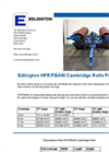 Edlington Cambridge - Model HFR/FBAW - 6.5m Roller Brochure