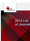 2013 NRC Research Press journals catalogue