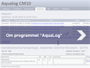 Aqualog - Version CM10 - Digital Aquaculture Logging System Software
