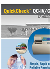QuickCheck - Model IV/GR - Cryoscope Analyzer Brochure
