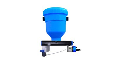 Automatic Fish Feeder with Spread Disc and Integrated Control