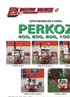 PERKOZ - Model 400, 600, 800 and 1000 - Mounted Crop Field Sprayers  Brochure