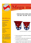Model RG 300 – RG 400 – RG 500 - Fertilizer Spreaders Brochure