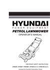 Petrol Powered Push Rotary Lawnmower HYM40P-Brochure