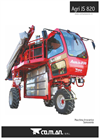 Agri - Model JS 820 - Self Propelled Sprayers - Technical Data
