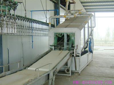 Qingdao - Model QE-B102 - High Quality Chicken Slaughter Equipment Cage Manual Conveyor Butcher Machine