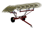Model OT V8-V10-V12 - Finger Wheel Rakes