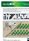 HortoKit - Gravity Powered or Low Pressure Drip Irrigation System - Datasheet