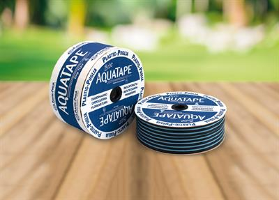 Brico AQUATAPE - Thin-walled Blue Striped Polyethylene Black Tape