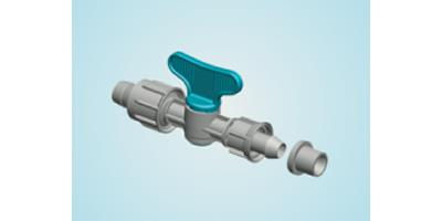 Plastic-Puglia - Valve with Tape - Gasket and Nut Offtakes (D2)