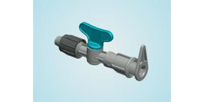 "Plastic-Puglia - Valve with ""Poly"" Dripline-layflat Pipe"