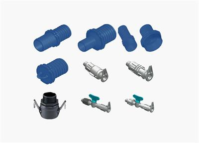 Plastic Puglia - Layflat Fittings with Ring and Nut