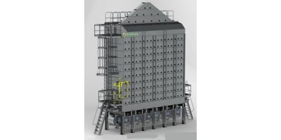 Western - Model 2400-10 - Fan Under Design (Six Hot Fans) Grain Dryer