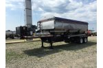 Adams - Model 870 CUBIC FT., 304 - Stainless Steel 3 Hopper Side Discharge Trailer Tender