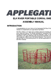 Elk River Portable Corral Sweep Assembly Manual