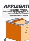 Livestock Waterer Installation, Operation, Parts Manual