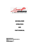 Snowblower Manual Complete- Brochure