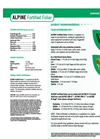 Alpine Fortified Foliar - Liquid Fertilizer - Datasheet