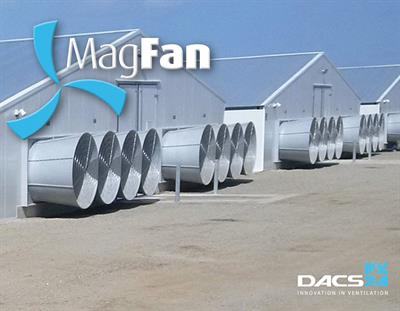 Magfan - Ultra Efficient Wall Fan for Livestock House Climate - Poultry Farm Ventilation System - Pig Farm Ventilation System
