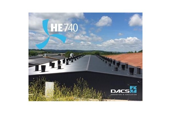 DACS - Model HE740 - Exhaust Unit for Pig and Poultry Houses