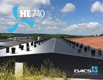 Model HE740 - Exhaust Unit for Pig and Poultry Houses - Poultry Ventilation System - Pig Ventilation System