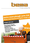 Bema - 550 - Snow Plough Brochure