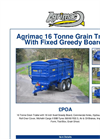 Grain Trailer With Fixed Greedy Boards 16 Tonne- Brochure