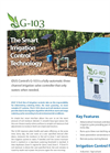 iDUS - Model G-103 - Fully-Automatic Three Channel Irrigation Valve Controller Datasheet