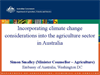 Incorporating climate change considerations into the agriculture sector in Australia