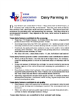Dairy Farming in Texas- Brochure