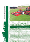 Progressive - Model TDR-15B - Tri-Deck Finishing Mowers Brochure
