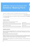 SmartAg Exhibitor Form - 2014