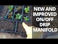Easy Garden Bed Watering with My New On/Off Manifold Design Video
