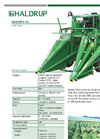 HALDRUP - Model D-45 - Self-Propelled Plot Divider - Datasheet