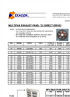 Model Q - Direct Drive Multifan Panel Fans  Brochure