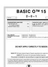 Basic - Model O 115 - Nitrogen Nitrate Brochure