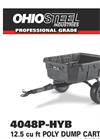 Ohio Steel - Model 12.5 Cu Ft - Poly Hybrid Dump Cart Brochure