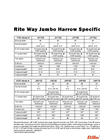 Rite Way - JH7128 - Jumbo Harrows Brochure