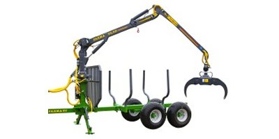 FARMA - Model CT 6,3 - 10 G2 - Forestry Trailer with Crane