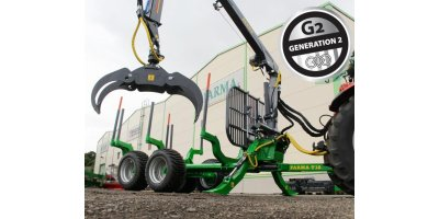 Farma - Model CT 6,3 – 12 G2 - Forestry Trailer with Crane