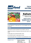 Kalium - Model 50 - Foliar Potassium Feeds - Datasheet