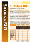 SIFORGA - Model V 4-1-8 - Organic NPK Fertilizers Brochure
