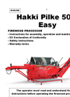 Hakki Pilke - Model Easy 50 - Firewood Machine - Manaul