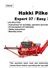 Hakki Pilke - Model Expert 37 - Firewood Machine - Manual